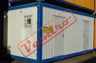 Sanitární kontejner - REPASOVANÝ NA OBJEDNÁVKU - Starší sociální kontejner sprchy / wc - šířka 3m